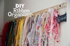 Ribbon Storage and Organization