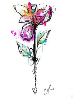 Mini Tattoos, Dog Tattoos, Body Art Tattoos, Sleeve Tattoos, Tattoo Sketches, Tattoo Drawings, Natur Tattoos, Illustration Botanique, Tattoo Feminina