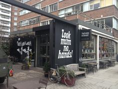 Bring your bike for a service or just pop in for the delicious snacks and drinks at 'Look Mum No Hands!' in Old Street