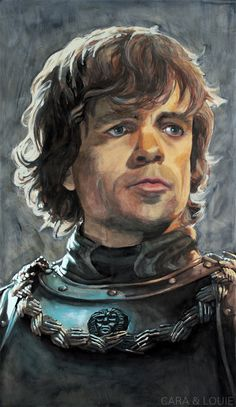 This is an original painting of Tyrion Lannister during the Battle of Blackwater, from the great show Game of Thrones. Game Of Thrones Drawings, Game Of Thrones Illustrations, Game Of Thrones Artwork, Game Of Thrones Fans, Queen Of Dragons, Mother Of Dragons, Tyron Lannister, Battle Of Blackwater, Fanart