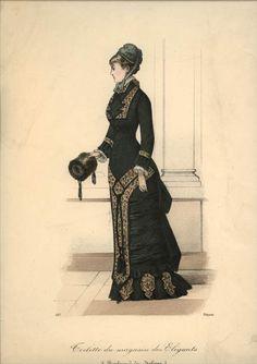 Gorgeous dropped-waist design. C.1881