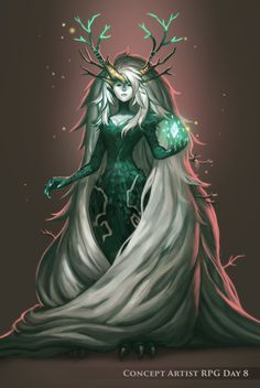 ConceptArtistRPG Day 8 Boss - Forest Witch , Kristina Kolesnikova on ArtStation at http://www.artstation.com/artwork/conceptartistrpg-day-8-boss-forest-witch