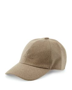 Cashmere Storm System Baseball Cap, Oatmeal  by Loro Piana at Neiman Marcus.