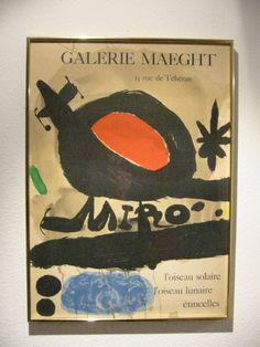 Joan Miro Loiseau Solaire L' Oiseau Lunaire Etincelles Abstract Print