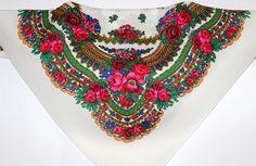 Vintage omslagdoek Oekraïens/Russische stijl door LoversOfOldThings