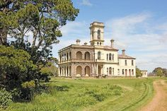 The grand, abandoned and derelict, 1880s Romsey mansion, Mintaro, Victoria, Australia