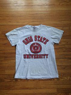 Vintage The Ohio State University Buckeyes Simple T-Shirt by VintageVanShop on Etsy
