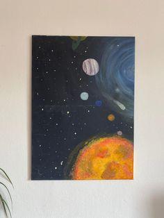 Space Painting, Outer Space, Passion, Etsy, Vintage, Art, Space, Idea Paint, Art Production