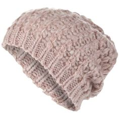 Light pink space dye beanie hat ($12) found on Polyvore