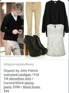 One direction inspired outfit One Direction Fashion, One Direction Outfits, Nice Outfits, Spring Outfits, Casual Outfits, 1d Concert, Celeb Style, My Style, Fashion Ideas