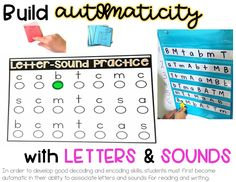 This blog post is all about how building automaticity at the letter and word level is essential for fluent reading. Tips, information, and resources  here!
