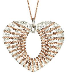 Look what I found on #zulily! Sparkle & Rose Gold Cutout Heart Pendant Necklace #zulilyfinds