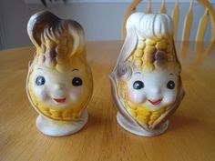 Vintage Anthropomorphic Corn Cob S&P Salt and Pepper Shakers Japan Numbered in Collectibles, Decorative Collectibles, Salt & Pepper Shakers | eBay