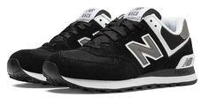 574 New Balance, Black with White