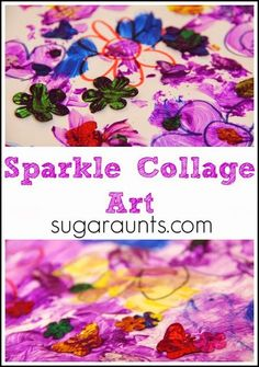 Sparkle Glue Paint with glitter, spangles, whatever you want to add! This is creative painting at it's best.