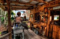 Spooky Cabin Back Porch