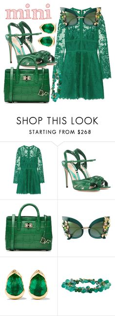 """All Green"" by quocanh1383 ❤ liked on Polyvore featuring Elie Saab, Gucci, Diane Von Furstenberg, Dolce&Gabbana and Fernando Jorge"