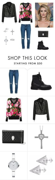 """Без названия #1966"" by gvarjusha ❤ liked on Polyvore featuring Paige Denim, Balmain, Dolce&Gabbana, Philipp Plein, Whiteley, Target, Movado, Edge of Ember and Bony Levy"