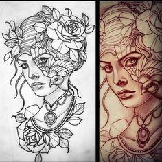 Liz Hapi - Z Liz Hapi Tattoo - Tatowierung Great Tattoos, Unique Tattoos, Beautiful Tattoos, Body Art Tattoos, Sleeve Tattoos, Tattoo Sketches, Tattoo Drawings, Drawing Sketches, Art Drawings