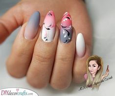 If you have been thinking about getting almond shaped nails done, make sure you have a perfect design! We have a pick of 40 almond nails for you! Almond Shape Nails, Almond Nails, Sparkly Nails, Pink Nails, Nail Swag, Trendy Nails, Cute Nails, Nail Art Designs, Airbrush Nails