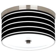 Bold Black Stripe Giclee Energy Efficient Ceiling Light