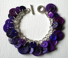 Purple button #bracelet    . . . .   ღTrish W ~ http://www.pinterest.com/trishw/  . . . .  #handmade #jewelry