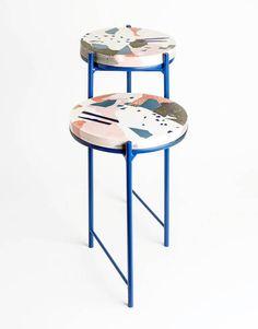 Terrazzo coffee table by Jacob Egeberg Industrial Design Furniture, Repurposed Furniture, Rustic Furniture, Vintage Furniture, Modern Furniture, Furniture Design, Outdoor Furniture, Futuristic Furniture, Chair Design