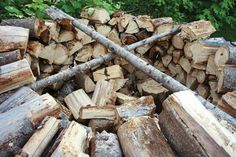 Build a holz hausen to dry firewood faster... by Doug Fluckiger for Backwoods Home Magazine