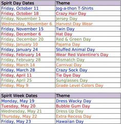 Here are some easy dress up day ideas for Spirit Weeks