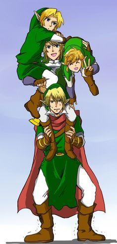 Link babysitting his incarnates