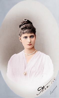 Empress Alexandra Feodorovna (1872-1918) when Princess Alix of Hesse