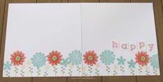 Stampin Up scrapbook layouts 2014
