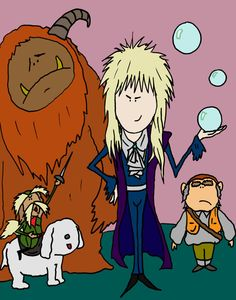 Glossy poster of original pop art print from the movie Labyrinth. $8.00, via Etsy.