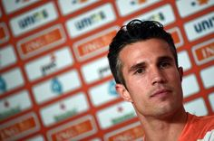 Netherlands' forward Robin van Persie attends a press conference at Flamengo Stadium in Rio de Janeiro on June 20, 2014, during the 2014 FIFA World Cup.
