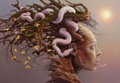We present: - Tomasz Alen Kopera. One of the many paintings by Tomasz Alen Kopera. Fantasy Kunst, Fantasy Art, Art Visionnaire, Spirited Art, Magic Forest, Visionary Art, Fantasy Landscape, Fine Art Gallery, Oeuvre D'art