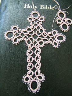 Tatted Cross Bible Bookmark Handmade Tatting | eBay