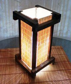 abajur de mesa japones rustico