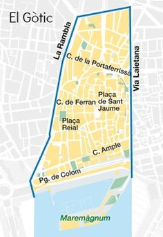 This Eixample District Map Shows The Grid Layout And The - Barcelona map eixample district
