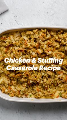 Turkey Recipes, Great Recipes, Chicken Recipes, Favorite Recipes, Lisa Crawford, Chicken Stuffing Casserole, Cooking Recipes, Healthy Recipes, Quick Dinner Recipes