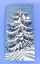 Weihnachtskarte Taubenbaum