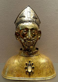 Head reliquary Martin Louvre Reliquary / Religious Icons More Pins Like This At : FOSTERGINGER @ Pinterest