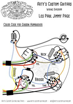 jimmy page wiring diagram les paul- arty's custom guitars prewired kit  gitarre, jimmy page