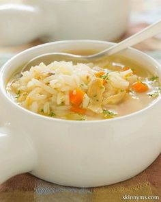 Cream of Chicken & Rice Soup is such a classic favorite!