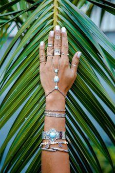 Gypsy Soul Turquoise Hand Chain from Criscara Jet Set Gypsy Jewelry Lookbook | Criscara x Jamie Kidd
