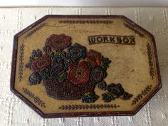 Rare antique 'Workbox' sewing & biscuit tin. Collectable tins/vintage tins/1930's tins. by trevoranna on Etsy