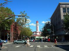 Bellingham, WA --- that is the Mt. Baker Theater in the background