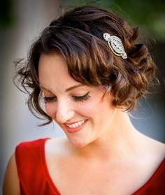 short curly hair with headband...adorable!