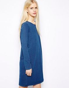 Monki Long Sleeve Oversized Dress