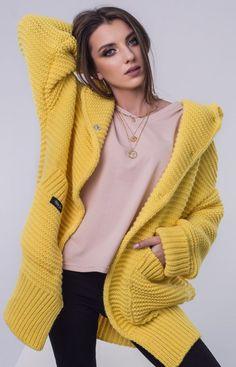 Sue Julia sweter z kapturem żółty Instagram, Fashion, Gowns, Moda, Fashion Styles, Fashion Illustrations