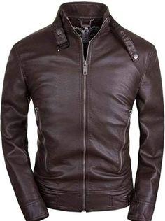[Affiliate] World Of Leather Men's Dark Brown Slim Fit Biker Leather Jacket Best Leather Jackets, Leather Jacket Outfits, Men's Leather Jacket, Leather Men, Biker Leather, Mens Shearling Jacket, Jacket Men, Leather Fashion, Mens Fashion